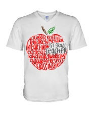 1ST GRADE APPLE V-Neck T-Shirt thumbnail