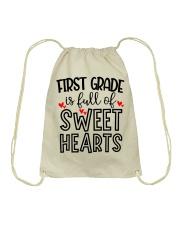 1ST GRADE HEART Drawstring Bag thumbnail