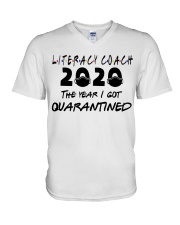 LITERACY COACH V-Neck T-Shirt thumbnail