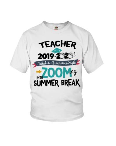 TEACHER ZOOMING INTO SUMMER BREAK