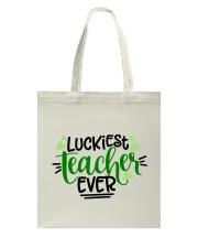 LUCKIEST TEACHER EVER Tote Bag thumbnail
