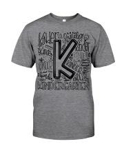 KINDERGARTEN TYPO Classic T-Shirt front