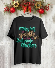 2ND GRADE TEACHER SPARKLE Classic T-Shirt lifestyle-holiday-crewneck-front-2