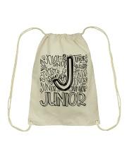 JUNIOR TYPOGRAPHY Drawstring Bag thumbnail