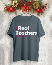THE REAL TEACHERS OF SIXTH GRADE Classic T-Shirt lifestyle-holiday-crewneck-front-2