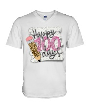 HAPPY 100 DAYS V-Neck T-Shirt thumbnail