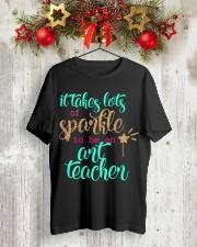 ART TEACHER SPARKLE Classic T-Shirt lifestyle-holiday-crewneck-front-2