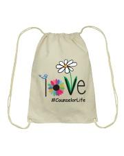 LOVE COUNSELOR LIFE Drawstring Bag thumbnail