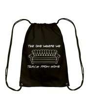 TEACH FROM HOME Drawstring Bag thumbnail