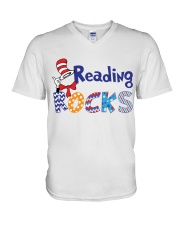 READING ROCKS V-Neck T-Shirt thumbnail