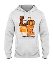 LOVE TODDLER TEACHER Hooded Sweatshirt thumbnail