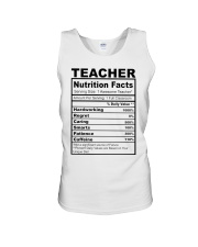 TEACHER NUTRITION FACTS Unisex Tank thumbnail