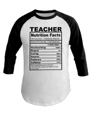 TEACHER NUTRITION FACTS Baseball Tee thumbnail
