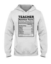 TEACHER NUTRITION FACTS Hooded Sweatshirt thumbnail