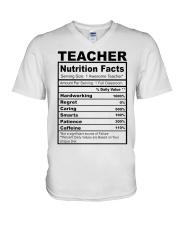 TEACHER NUTRITION FACTS V-Neck T-Shirt thumbnail