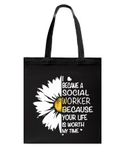 I BECAME A SOCIAL WORKER BECAUSE Tote Bag thumbnail