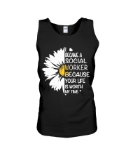 I BECAME A SOCIAL WORKER BECAUSE Unisex Tank thumbnail