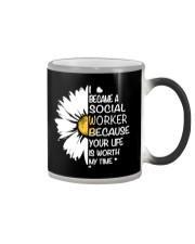 I BECAME A SOCIAL WORKER BECAUSE Color Changing Mug thumbnail