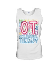 OCCUPATIONAL THERAPY TYPOGRAPHIC  Unisex Tank thumbnail