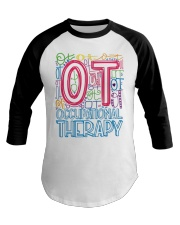 OCCUPATIONAL THERAPY TYPOGRAPHIC  Baseball Tee thumbnail