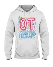 OCCUPATIONAL THERAPY TYPOGRAPHIC  Hooded Sweatshirt thumbnail