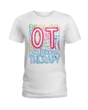 OCCUPATIONAL THERAPY TYPOGRAPHIC  Ladies T-Shirt thumbnail