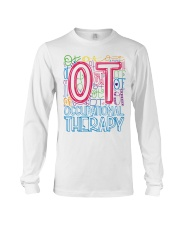 OCCUPATIONAL THERAPY TYPOGRAPHIC  Long Sleeve Tee thumbnail