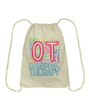 OCCUPATIONAL THERAPY TYPOGRAPHIC  Drawstring Bag thumbnail