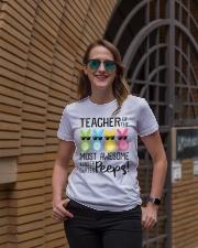 KINDERGARTEN PEEPS Ladies T-Shirt lifestyle-women-crewneck-front-2