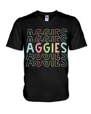 AGGIES RAINBOW V-Neck T-Shirt thumbnail