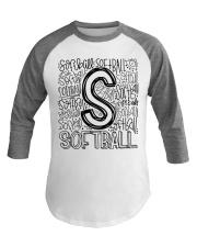 SOFTBALL TYPOGRAPHY Baseball Tee thumbnail