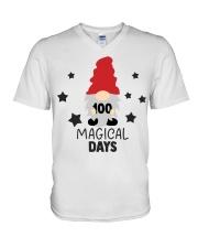 GNOMIES 100 MAGICAL DAYS V-Neck T-Shirt thumbnail