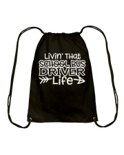 SCHOOL BUS DRIVER Drawstring Bag thumbnail