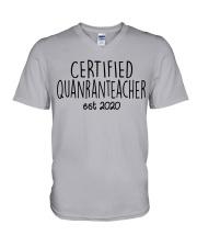 QUARANTEACHER V-Neck T-Shirt thumbnail