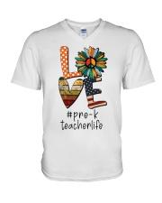 PRE-K TEACHER V-Neck T-Shirt thumbnail