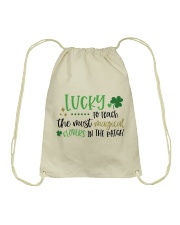 LUCKY TO TEACH THE MOST MAGICAL CLOVERS Drawstring Bag thumbnail