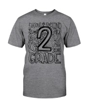 SECOND GRADE TYPO Classic T-Shirt front