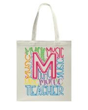 MUSIC TEACHER TYPOGRAPHIC  Tote Bag thumbnail