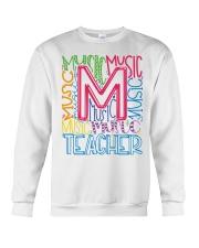 MUSIC TEACHER TYPOGRAPHIC  Crewneck Sweatshirt thumbnail