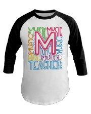 MUSIC TEACHER TYPOGRAPHIC  Baseball Tee thumbnail