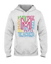 MUSIC TEACHER TYPOGRAPHIC  Hooded Sweatshirt thumbnail