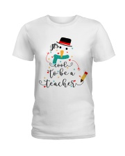 IT'S COOL TO BE A TEACHER Ladies T-Shirt front