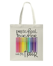 PRESCHOOL TEACHER WITH FLAIR Tote Bag thumbnail