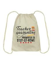TEACHERS STAY AT HOME Drawstring Bag thumbnail