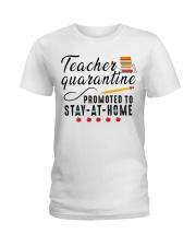 TEACHERS STAY AT HOME Ladies T-Shirt thumbnail