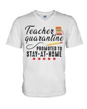 TEACHERS STAY AT HOME V-Neck T-Shirt thumbnail