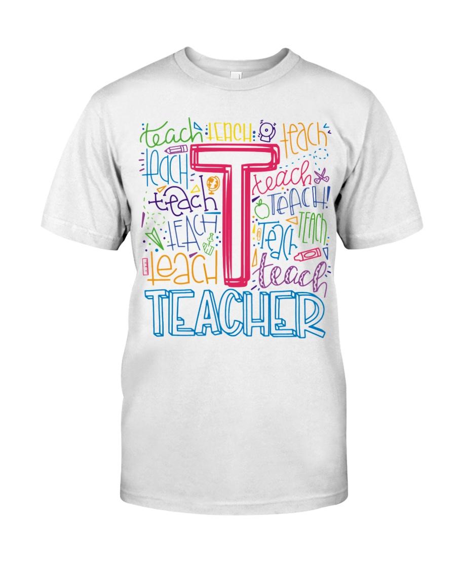 TEACHER TYPOGRAPHIC  Classic T-Shirt