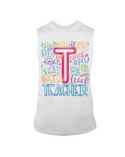 TEACHER TYPOGRAPHIC  Sleeveless Tee thumbnail