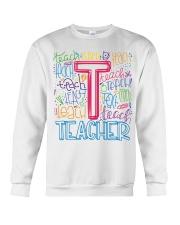 TEACHER TYPOGRAPHIC  Crewneck Sweatshirt thumbnail