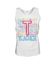 TEACHER TYPOGRAPHIC  Unisex Tank thumbnail
